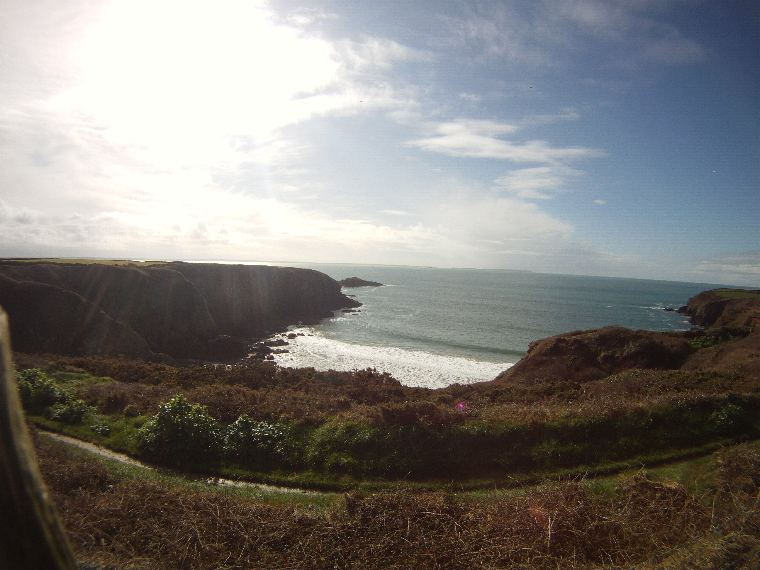Caerfai – time lapse (messing about with a new camera)