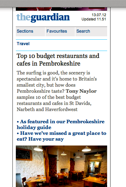 Caerfai Farm gets a couple of mentions in The Guardian travel section