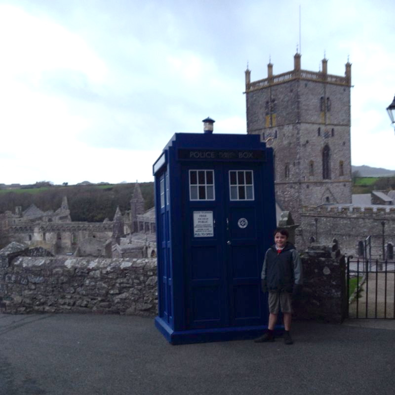 The Tardis materialises in St Davids!